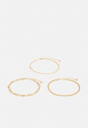 PCKIBO BRACELET 3 PACK - Armbånd - gold-coloured