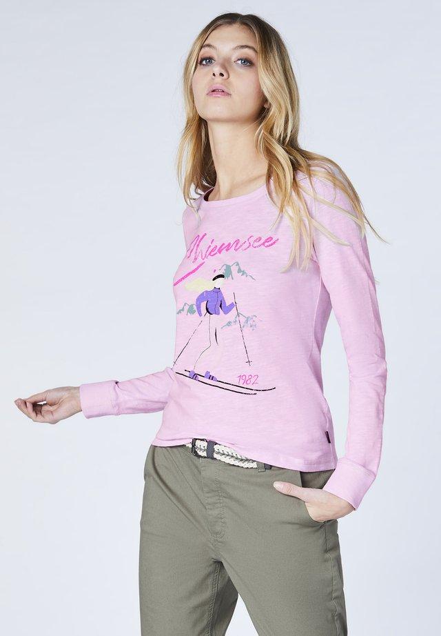 AUS REINER BIO-BAUMWOLLE - GOTS-ZERTIFIZIERT - Long sleeved top - pink lady