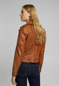 Esprit - Leather jacket - toffee - 2
