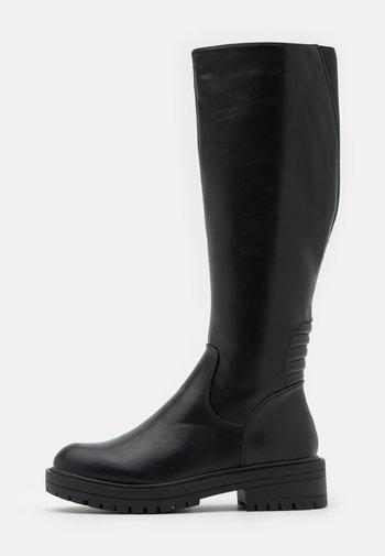 PADDED CHUNKY  - Vysoká obuv - black