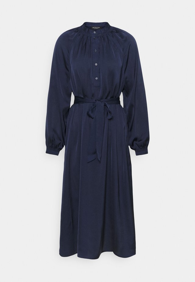 SLFHARMONY DRESS - Shirt dress - maritime blue