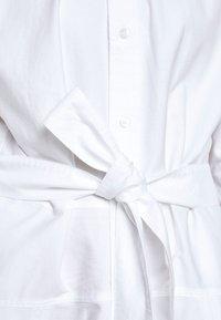 Polo Ralph Lauren - LONG SLEEVE CASUAL DRESS - Skjortekjole - white - 8