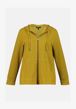 Zip-up sweatshirt - dunkles senfgelb