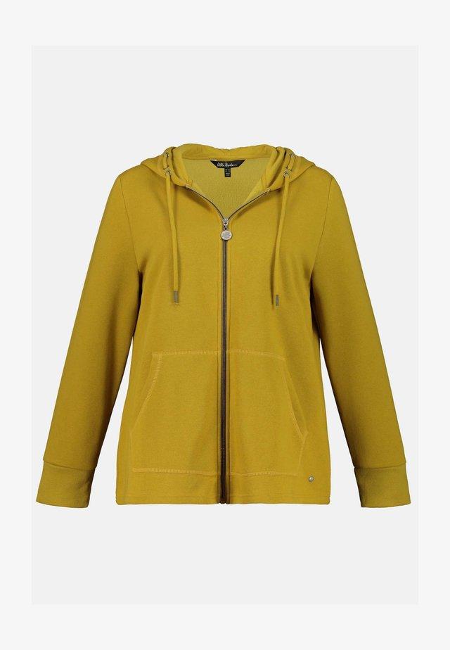 Zip-up hoodie - dunkles senfgelb