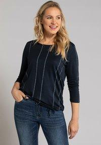 GINA LAURA - Long sleeved top - navyblau - 0