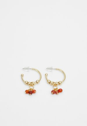 BREY RING EAR - Earrings - gold-coloured/orange
