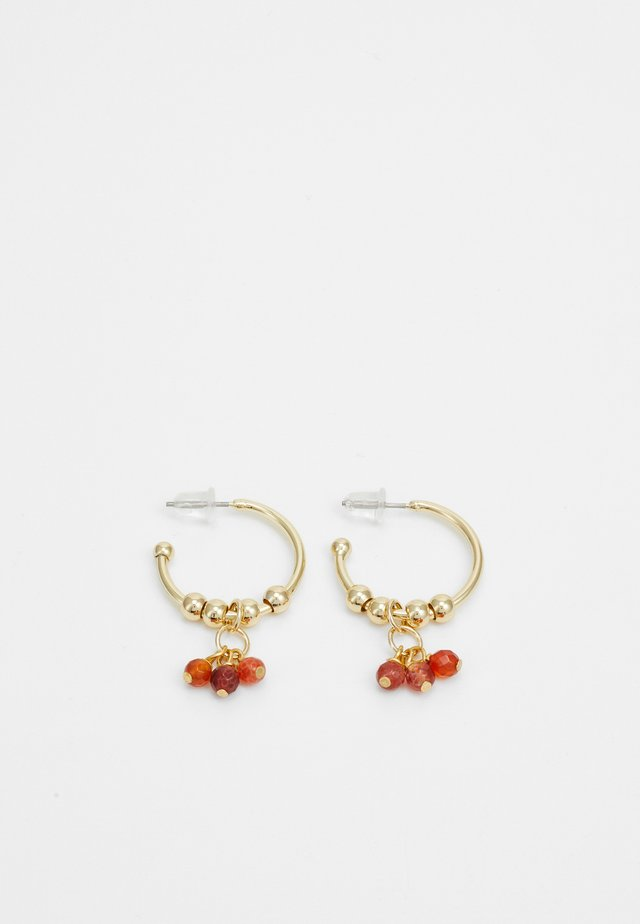 BREY RING EAR - Oorbellen - gold-coloured/orange