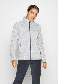 CMP - Fleece jacket - gesso melange/graffite - 0