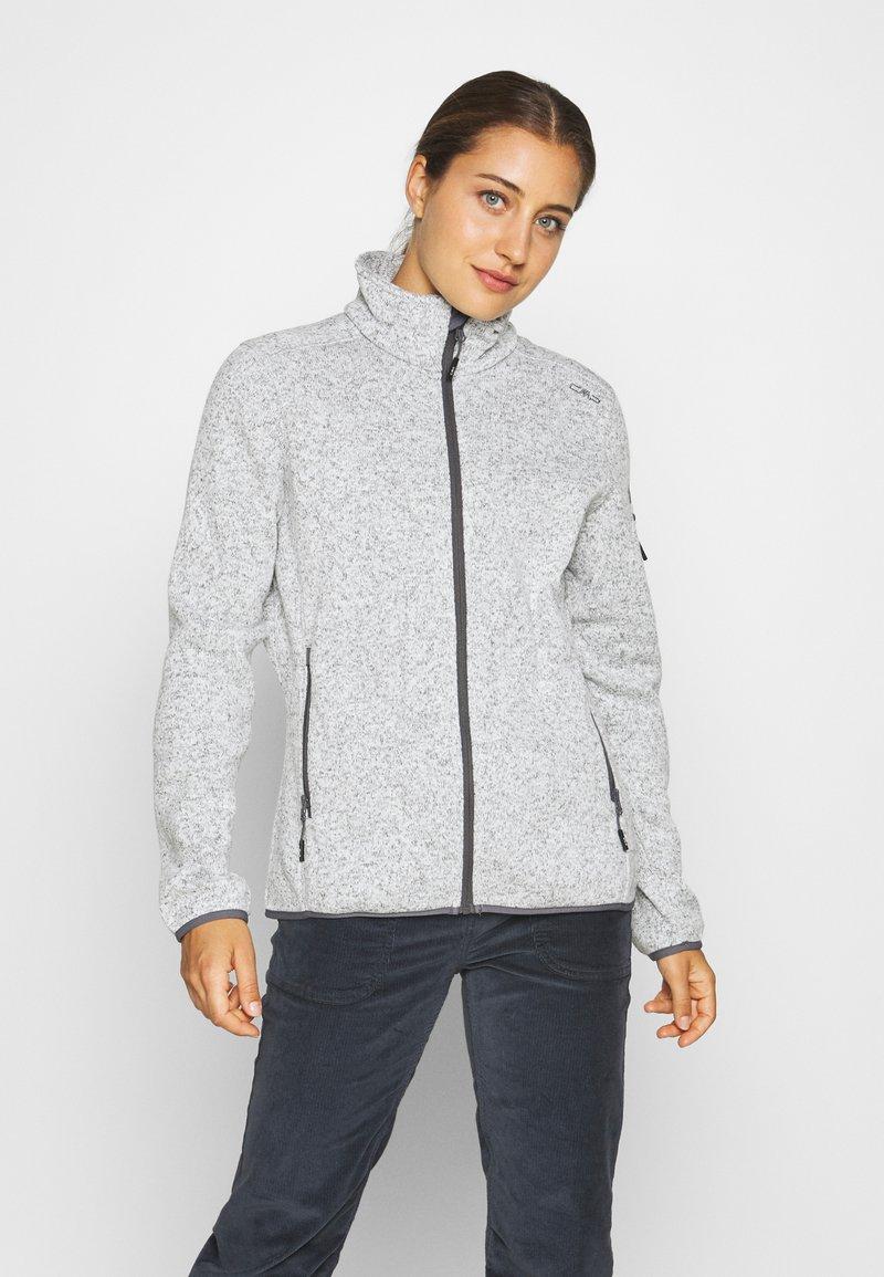 CMP - Fleece jacket - gesso melange/graffite