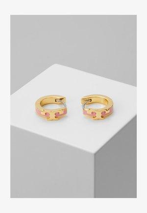 KIRA STACKABLE HUGGIE HOOP EARRING - Earrings - gold-coloured/pink city