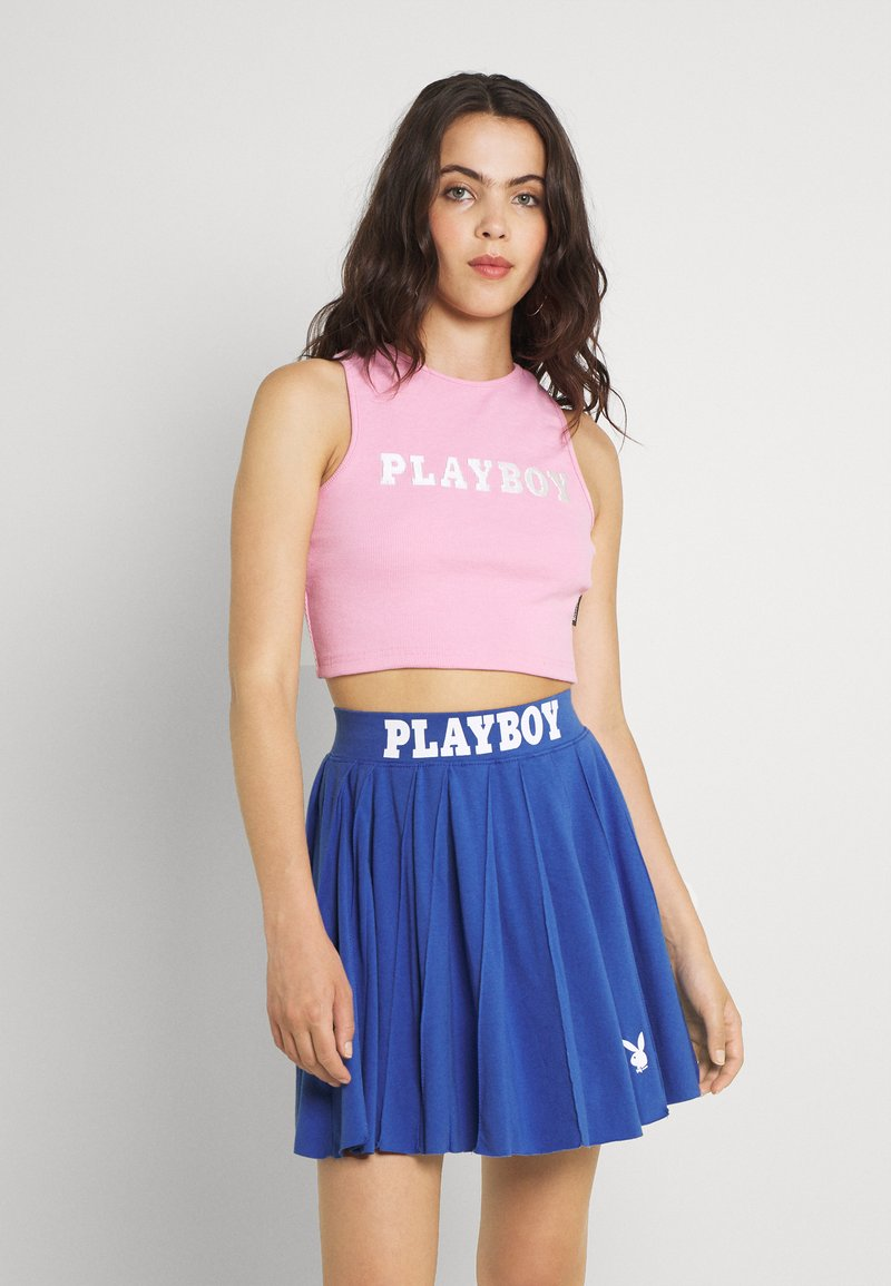 Missguided - PLAYBOY SPORTS RACER CROP - Top - pink
