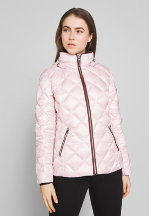 PEARL SHEEN PACKBLE REMOVABLE - Down jacket - blush