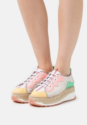 VIC - Casual lace-ups - multicolor/coral