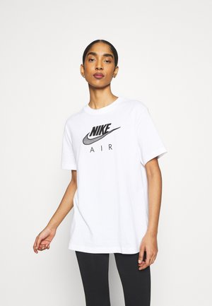 AIR  - T-shirt imprimé - white/black
