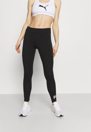 LEGGINGS - Leggings - black/silver