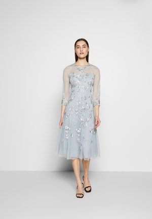 BEAD COVERED - Cocktail dress / Party dress - blue heather