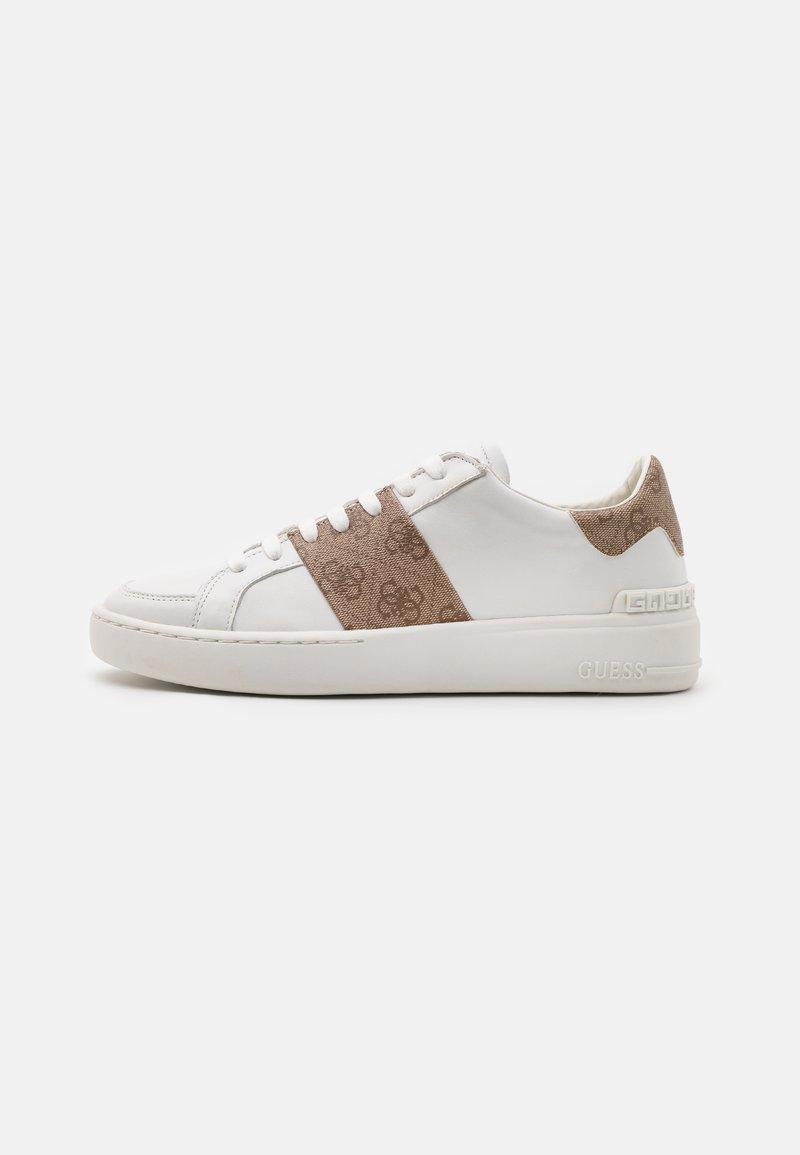 Guess - VERONA STRIPE - Trainers - white/beige