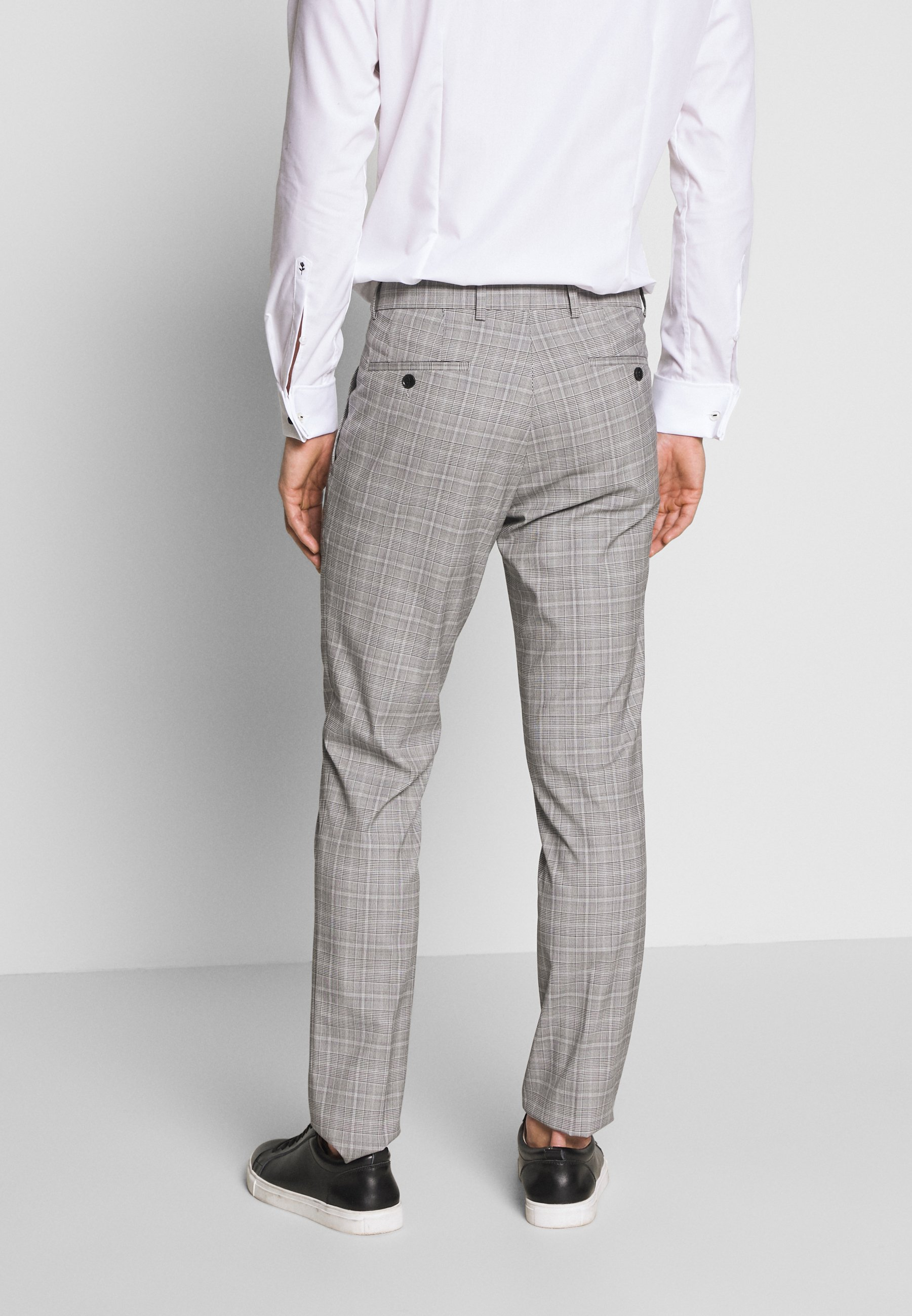 Esprit Collection PRINCE CHECK - Costume - light grey