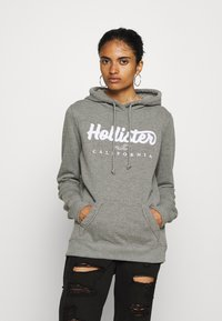Hollister Co. - Bluza z kapturem - grey - 0