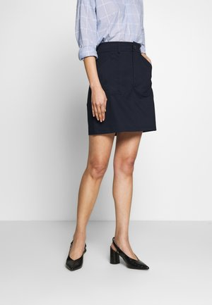 SOFT TOUCH - A-line skirt - navy