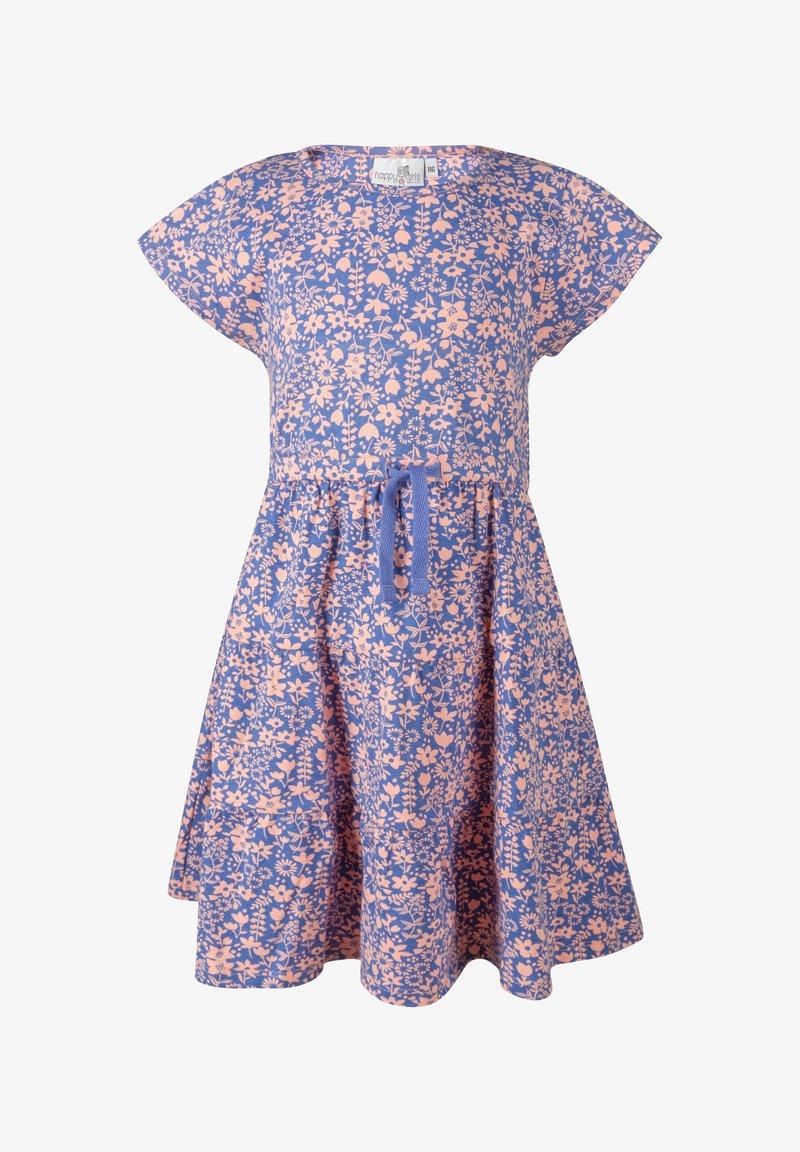 happy girls - BLUMEN - Day dress - royalblau