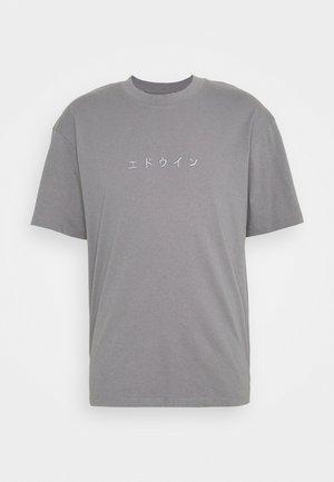 KATAKANA EMBROIDERY UNISEX  - Basic T-shirt - grey
