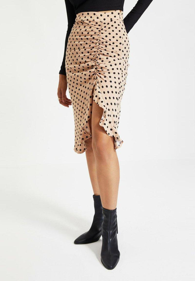 Trendyol - Pencil skirt - beige