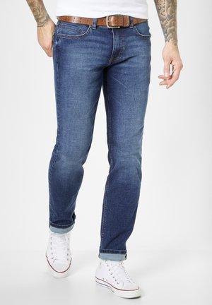 DEAN - Straight leg jeans - mid blue moustache use