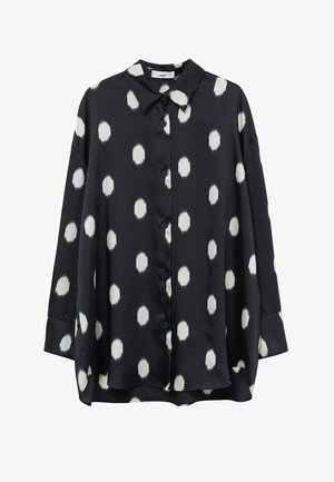 OVERSIZE  - Button-down blouse - svart