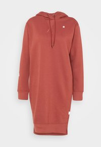 G-Star - GRAPHIC TEXT BF HOODED - Strikket kjole - cinnamon red - 5