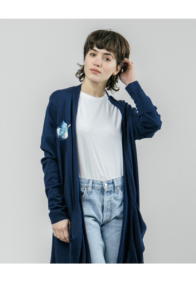 CRANE FOR LUCK - Cardigan - blue