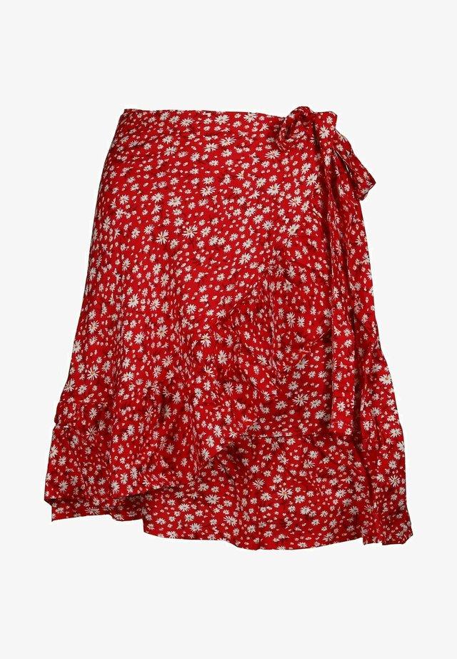TINA - Wrap skirt - rot