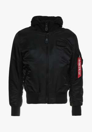 TEC BACK PRINT - Bomber Jacket - black