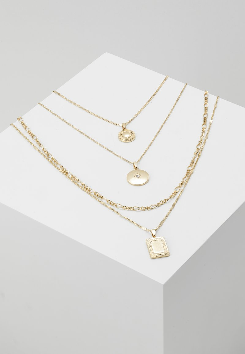 ONLY - ONLDAPHNE CHAIN NECKLACES 4 PACK - Naszyjnik - gold-coloured