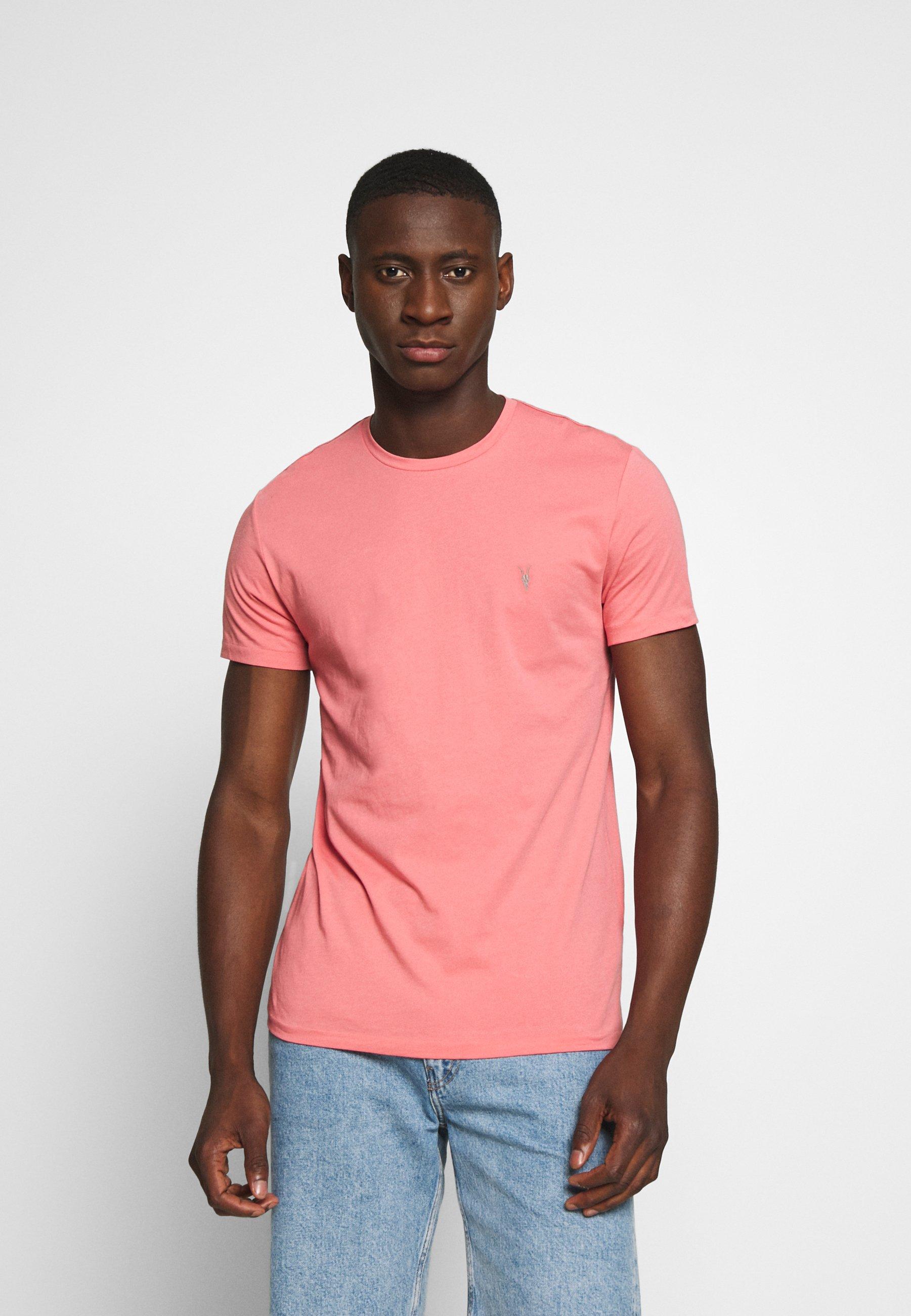 AllSaints TONIC CREW - T-shirts - havana pink
