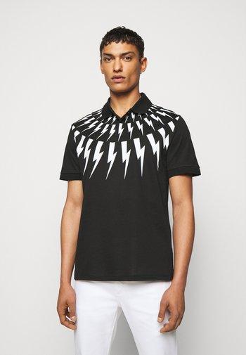 FAIR ISLE THUNDERBOLT - Polo shirt - black/white