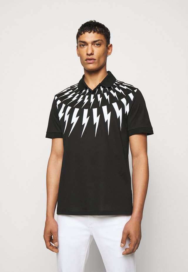 FAIR ISLE THUNDERBOLT - Polo - black/white