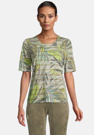 Print T-shirt - cream/green