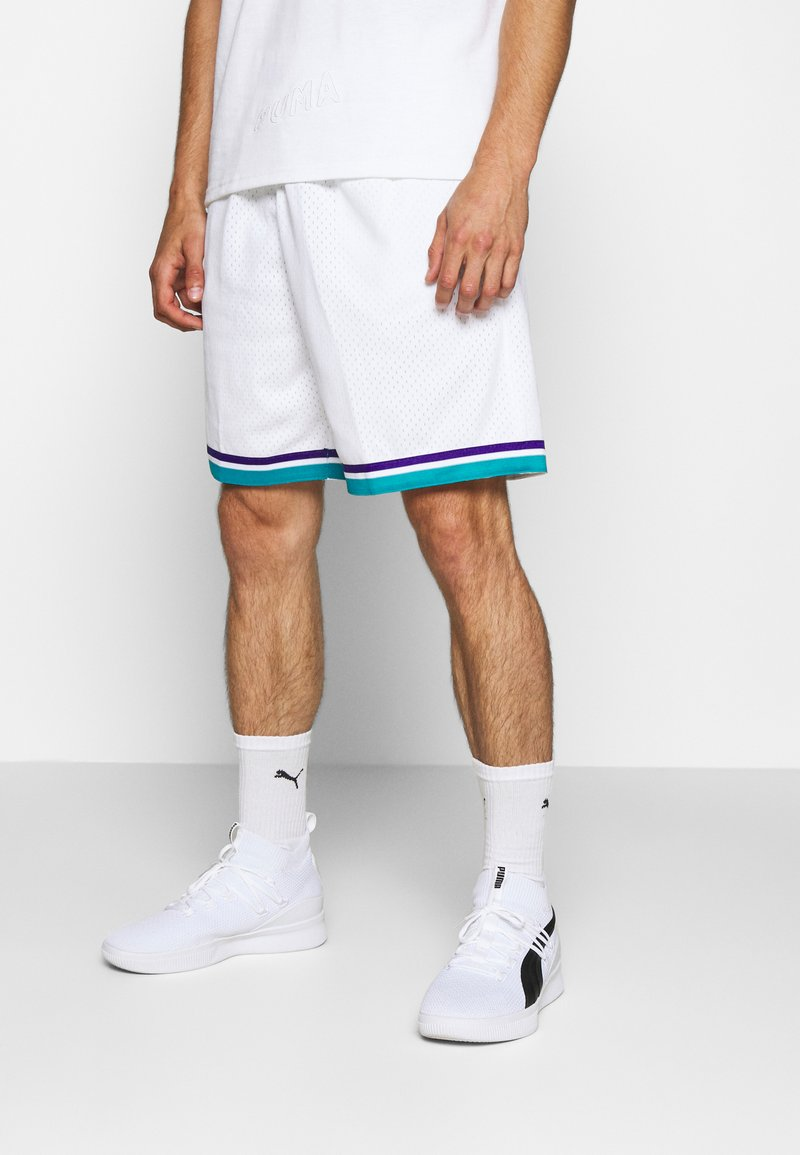 Mitchell & Ness - SWINGMAN SHORTS 1992-93 HORNETS - Sports shorts - white/teal