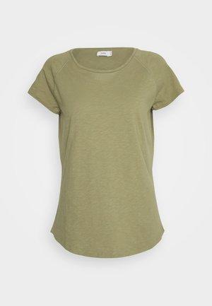 WOMEN´S - Jednoduché triko - green umber