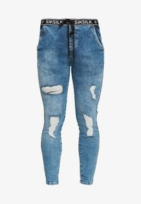 SIKSILK - ELASTICATED WAIST DISTRESSED - Jeans Skinny Fit - midstone blue - 3