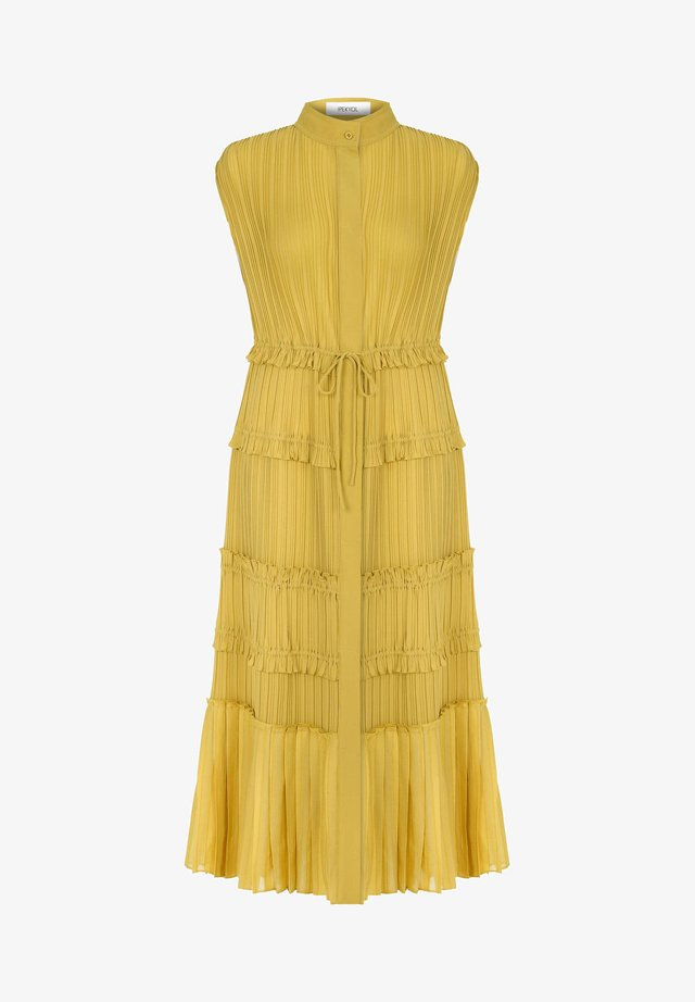 PLEATED - Vestido camisero - yellow