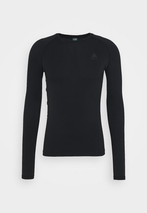 PERFORMANCE WARM ECO CREW NECK - Undertrøjer - black/new odlo graphite grey