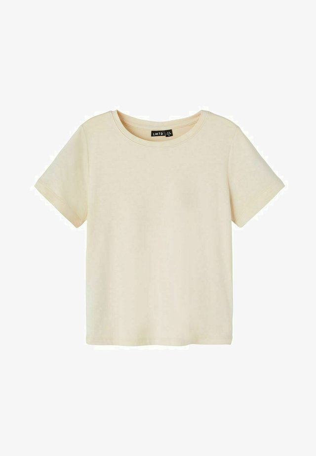 Basic T-shirt - creme brûlée