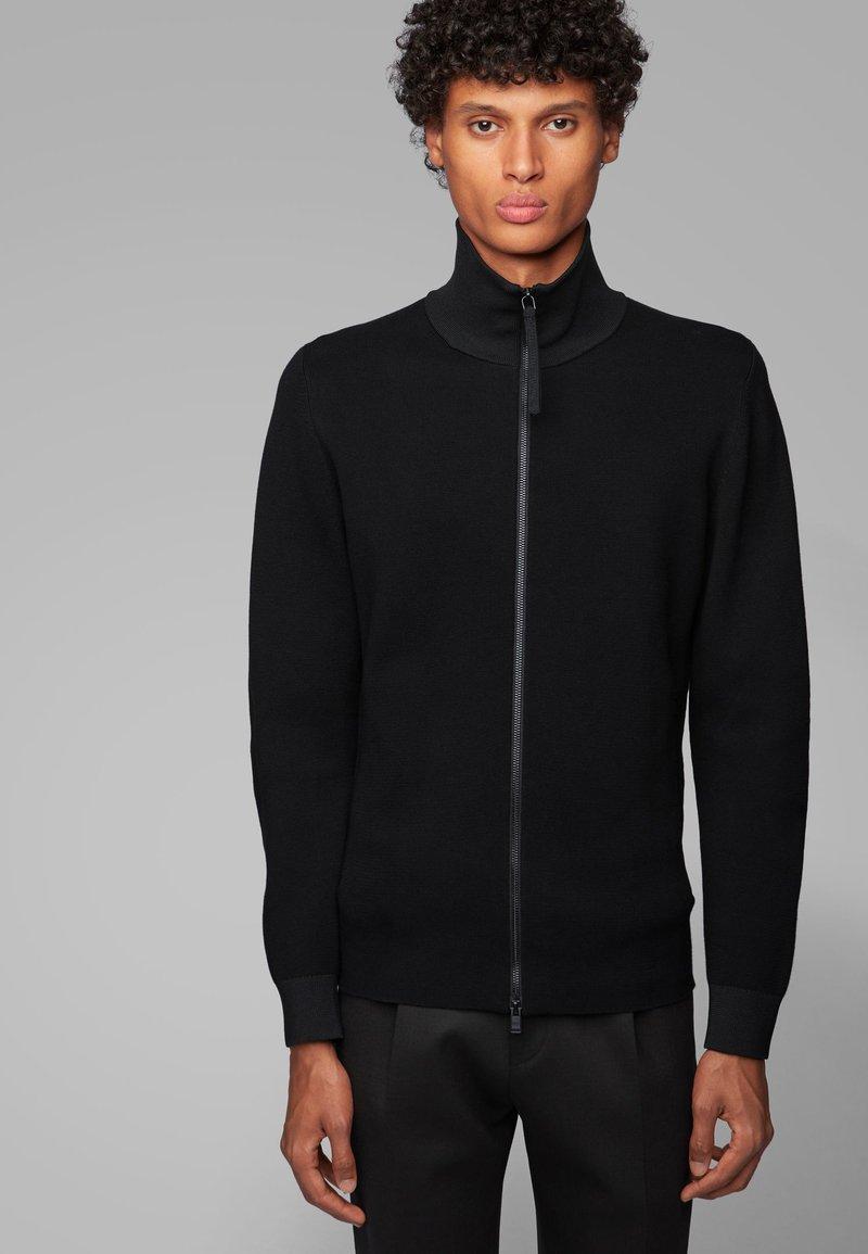 BOSS - GALBERTO - Zip-up hoodie - black