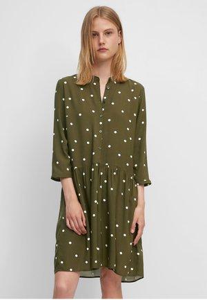 Shirt dress - multi/burnished logs