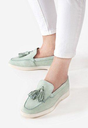 Slip-ons - aqua green