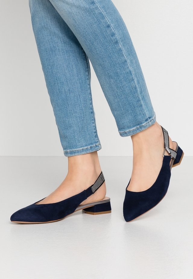 Slingback ballet pumps - navy