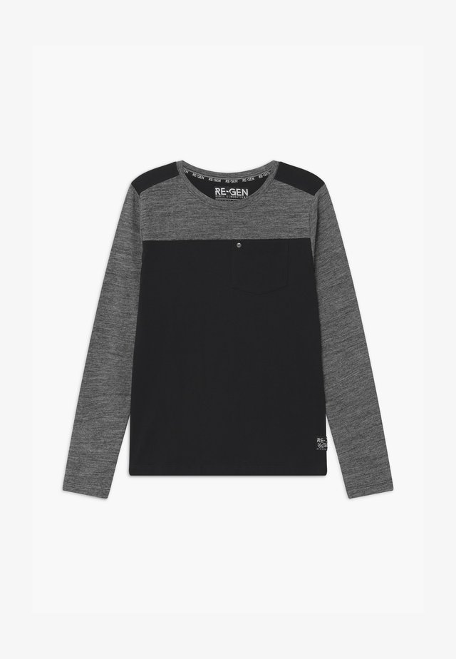 Langærmede T-shirts - grey/black