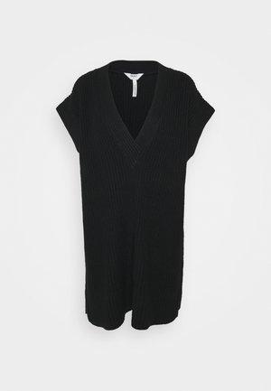 OBJHALSEY WAISTCOAT - Basic T-shirt - black